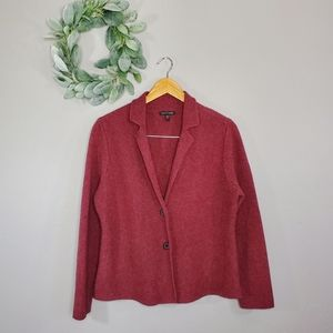 Eileen Fisher Lambswool Cashmere Boxy Cardigan
